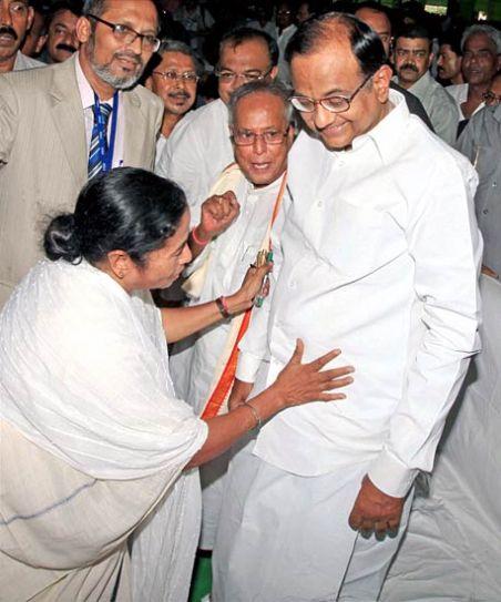 Mamata Banerjee and P. Chidambaram
