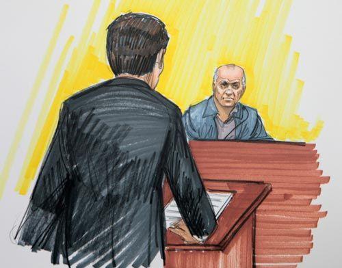 David Headley in Chicagi court