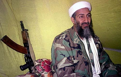 Osama bin Laden in the mountains of Helmand province