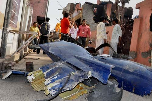 Plane crash in Faridabad