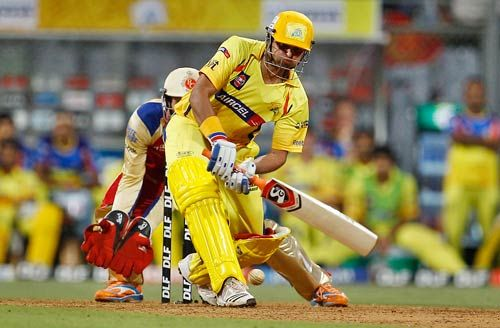 Chennai batsman Suresh Raina on way to his 73 not out