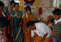 Rajini fans at the Vadapalani Murugan Temple in Chennai