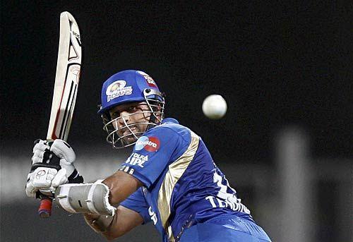 Mumbai captain Sachin Tendulkar