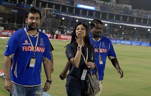Rajasthan owners Raj Kundra and Shilpa Shetty