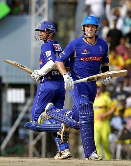 Rajasthan openers Rahul Dravid (left) and Shane Watson
