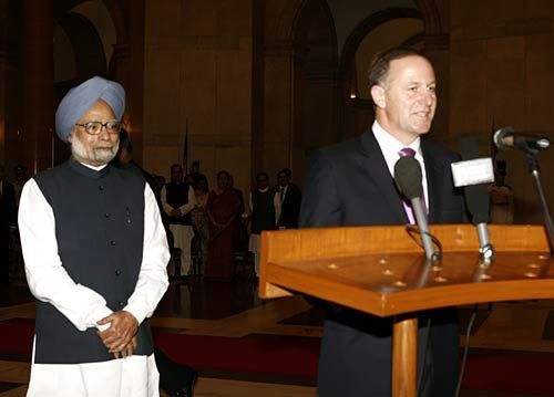John Key and Dr. Manmohan Singh