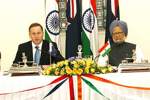 John Key and Dr.Manmohan Singh