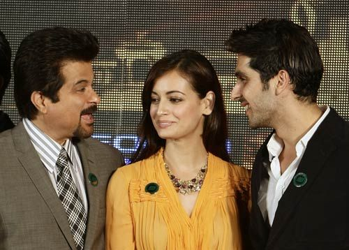 Anil Kapoor, Dia Mirza and Zayed Khan