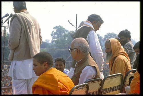 BJP leader L.K. Advani and Uma Bharti