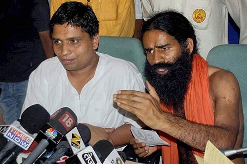 Baba Ramdev and his cloase aide Balakrishna