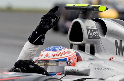 McLaren Mercedes Formula One driver Jenson Button