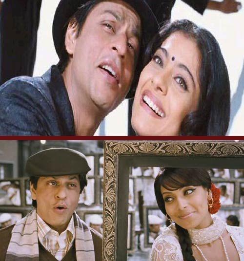 Shah Rukh Khan, Bipasha Basu and Kajol in a still from Phir Milenge Chalte Chalte From Ran Ne Bana De Jodi