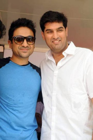 Vir Das and Kunal Roy Kapoor at Tian.