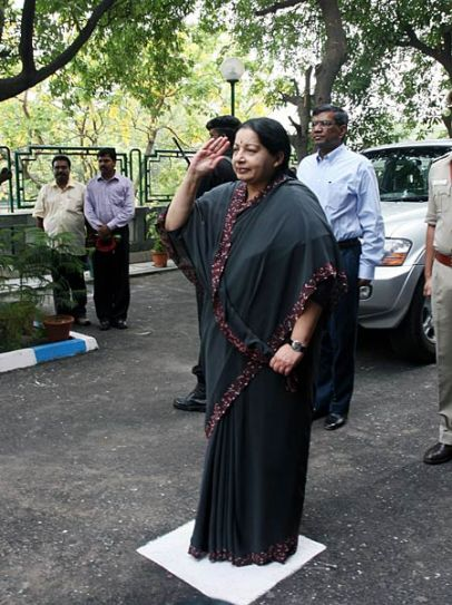 J Jayalalithaa at Tamil Nadu house in Delhi