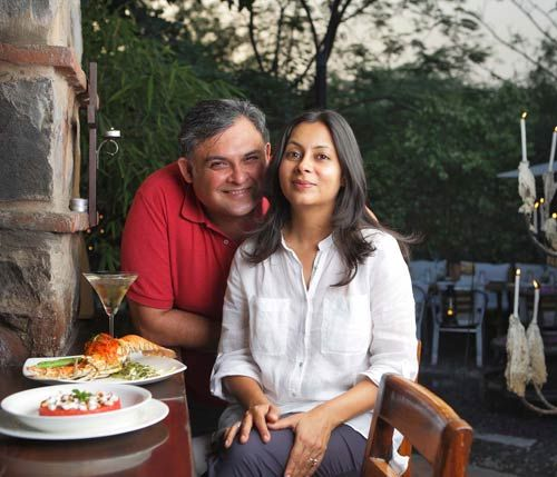 Marut and Anusuiya Sikka at Magique in Delhi's Garden of Five Senses.
