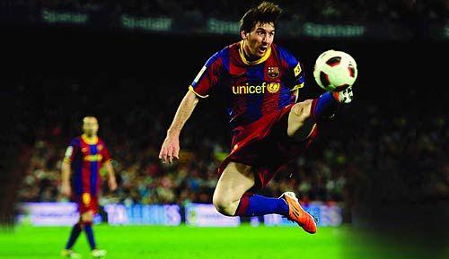 Argentine football star Lionel Messi