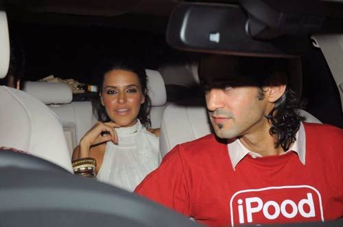 Neha Dhupia at shilpa's birthday bash