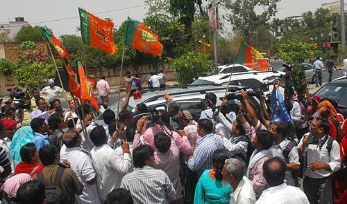 BJP workers in Jaipur