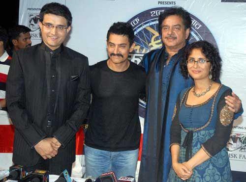 Sourav Ganguly, Aamir Khan, Shatrughan Sinha and Kiran Rao