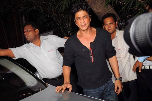 Shah Rukh Khan at shilpa's birthday bash