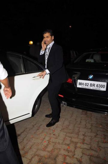 Karan Johar at shilpa's birthday bash