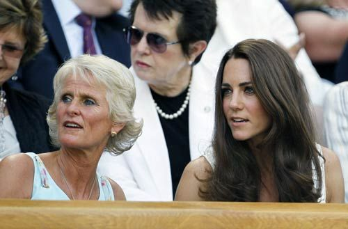 Duchess of Cambridge Kate Middleton and Gill Brook