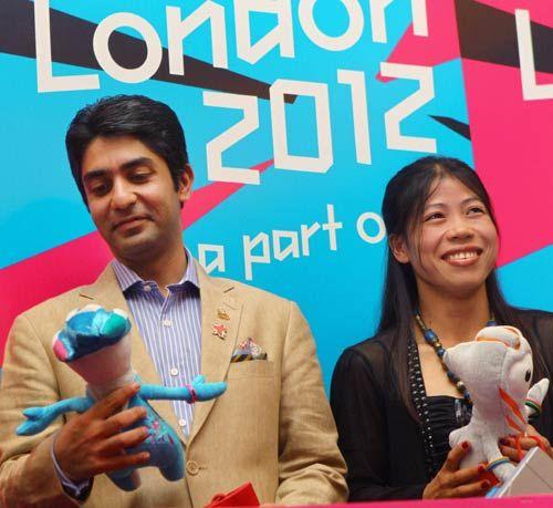 Abhinav Bindra and M.C. Mary Kom