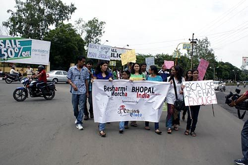 Besharmi Morcha rally in Bhopal
