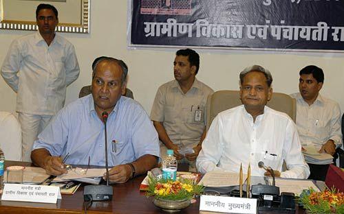 Rajasthan Chief Minister Ashok Gehlot and Panchayati Raj Minister Bharat Singh