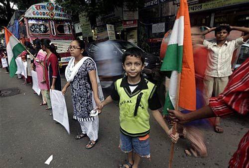 Human Chain in Mumbai