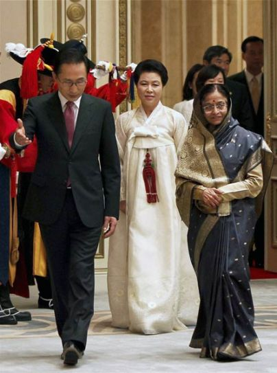Pratibha Patil in South Korea