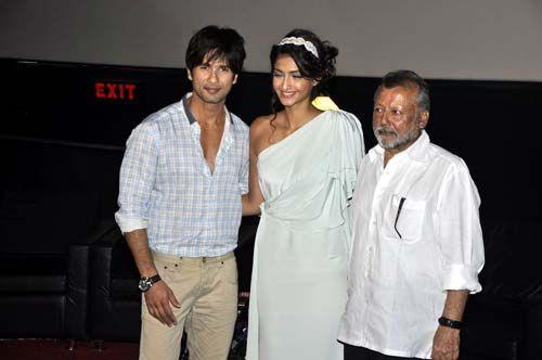 Sonam Kapoor, Shahid Kapoor and Pankaj Kapoor