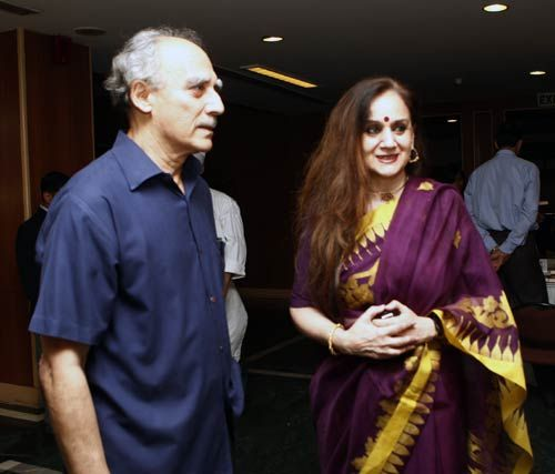 Arun Shourie and Nalini Singh at India Habitat Center in New Delhi