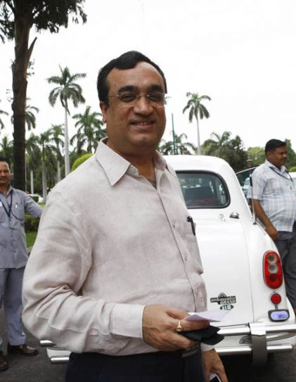 Ajay Maken arrives to attend the Monsoon Season of Parliament