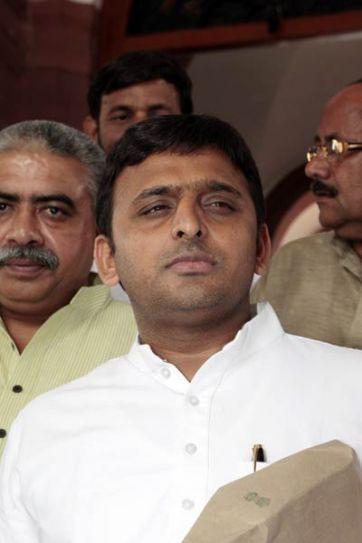 Akhilesh Yadav arrives to attend the Monsoon Season of Parliament
