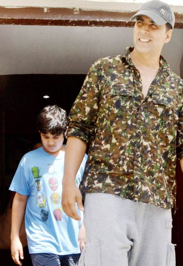 Akshay Kumar with son Aarav