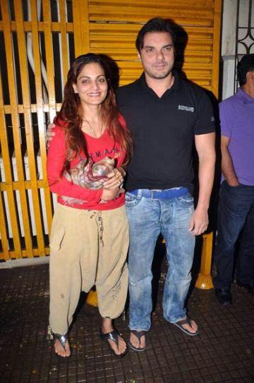 Alvira with brother Sohail Khan