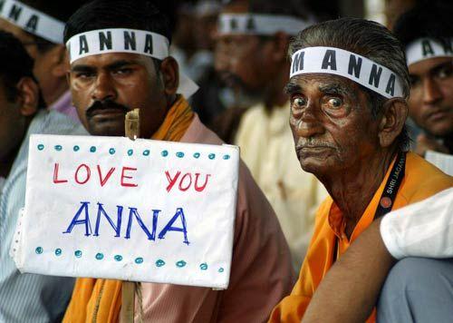 Anna Hazare supporters in Bhubaneshwar