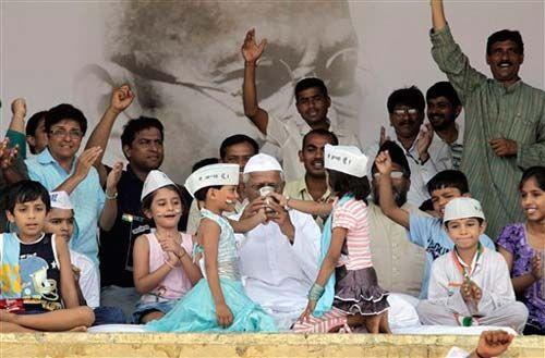 Team Anna at Ramlila Maidan