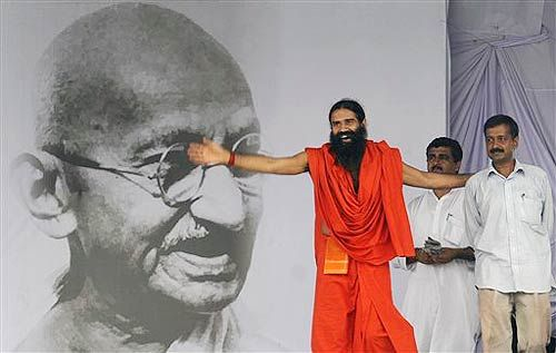 Baba Ramdev at Ramlila Maidan