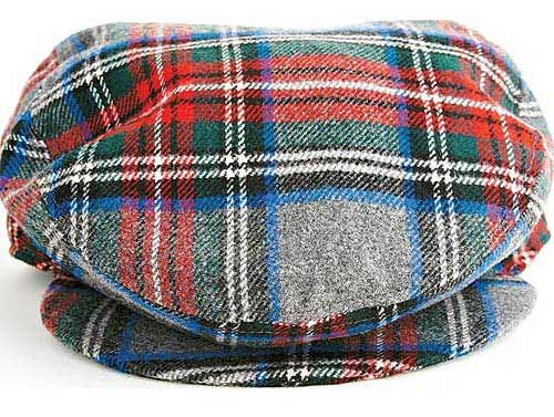 checked cap for men from UCB