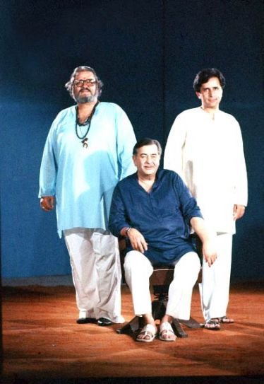Shammi Kapoor with Raj Kapoor and Shashi Kapoor