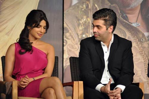 Priyanka Chopra and Karan Johar