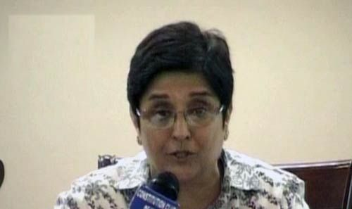 Kiran Bedi in New Delhi
