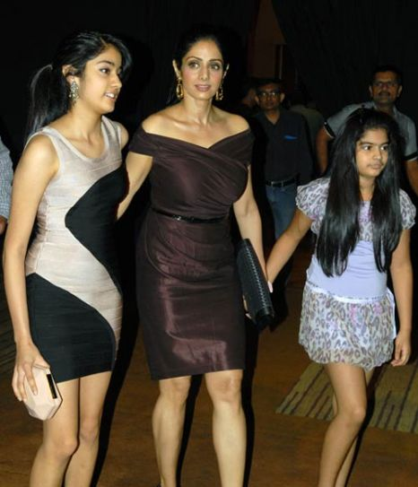 Sridevi along with her daughters