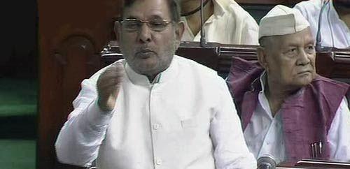 Sharad Yadav in Lok Sabha