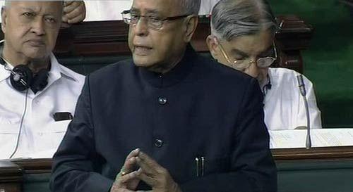 Pranab Mukherjee in Lok Sabha