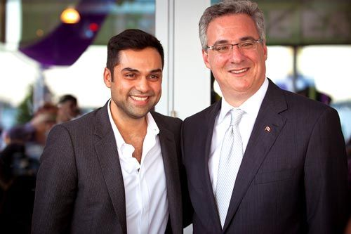 Abhay Deol and Jason Kennedy
