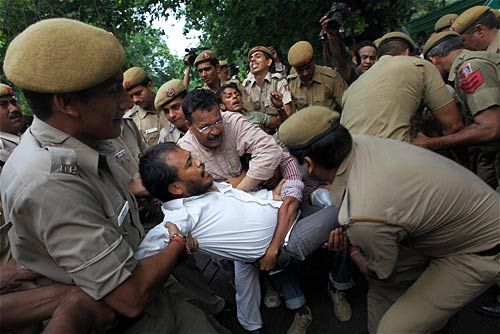 Protests outside Rahul Gandhi's house