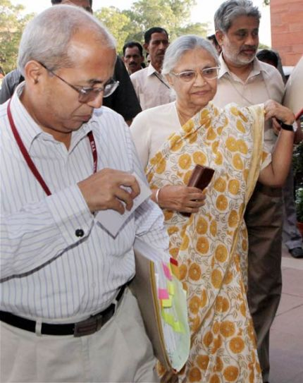 Sheila Dikshit and P K Tripathi